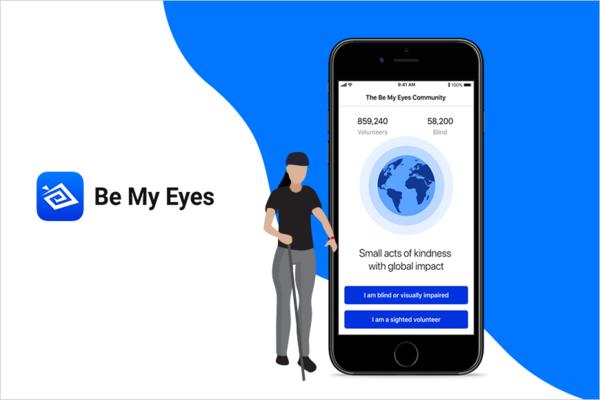 """ساعد الأشخاص المكفوفين و كن """"عينيهم"""" عبر هذا التطبيق الرائع:"""