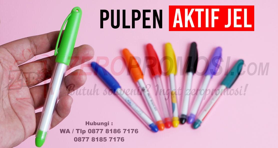 Jual Pulpen Gel Promosi, PEN AKTIF JEL, souvenir pen gel, Jual Souvenir Pen Aktif Gel, Pen Promosi Insert Paper