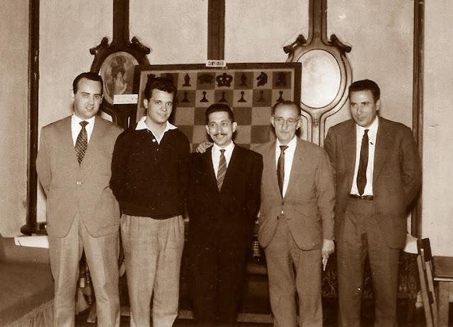 Equipo campeón del del Campeonato de España de ajedrez por equipos 1964