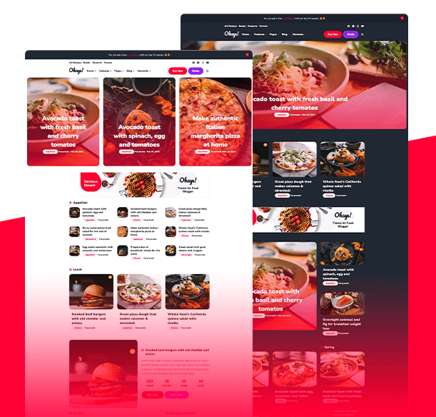 Best Blogger Templates [2021] For Food & Recipe Blogs   Okays