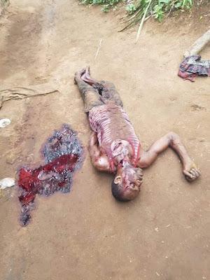 Disturbing Photos: Man Kills His Brother Over Mango In Abia