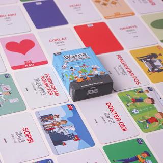 Kartu Pintar Balita Flashcard Warna Bentuk Profesi