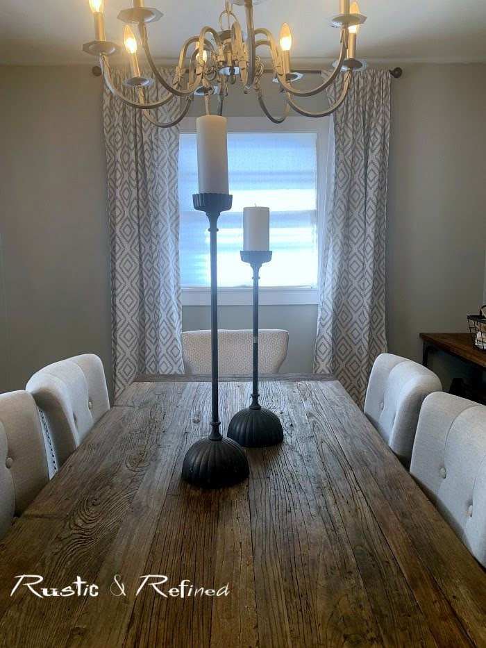 rustic dining room gets a new paint color in a quick and easy diy weekend project