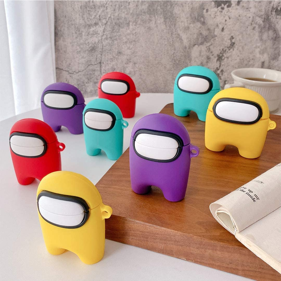 Among Us Airpods case Silicone Soft Protective Cover