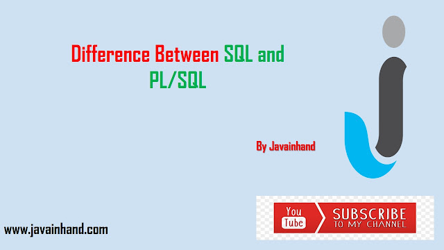 Difference Between SQL and PL/SQL in Oracle