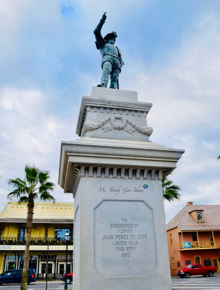 Ponce de Leon Statue  - One of 8 Things To Do in St. Augustine, Florida | Ms. Toody Goo Shoes