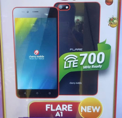 Cherry Mobile Flare A1; Quad Core LTE Android Marshmallow for Php2,999