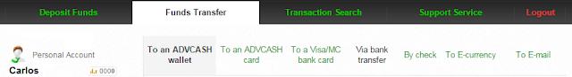 Métodos para retirar fondos en AdvCash