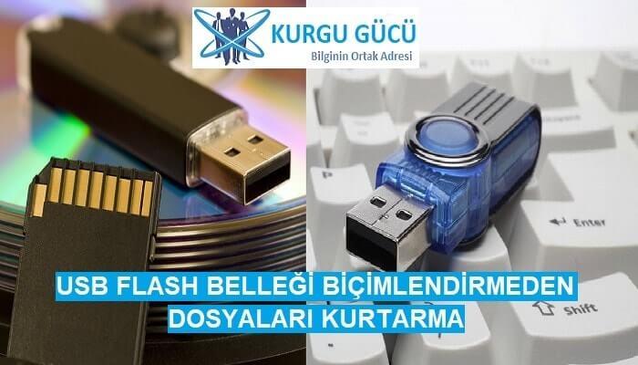 USB Flash Belleği Biçimlendirmeden Dosyaları Kurtarma - Kurgu Gücü