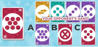 Your opponent is playing with open cards, your cards are covered. It's your turn. What would be your best move?