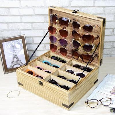 Wooden Eyeglasses Sunglasses & Eyewear Display from Nile Corp