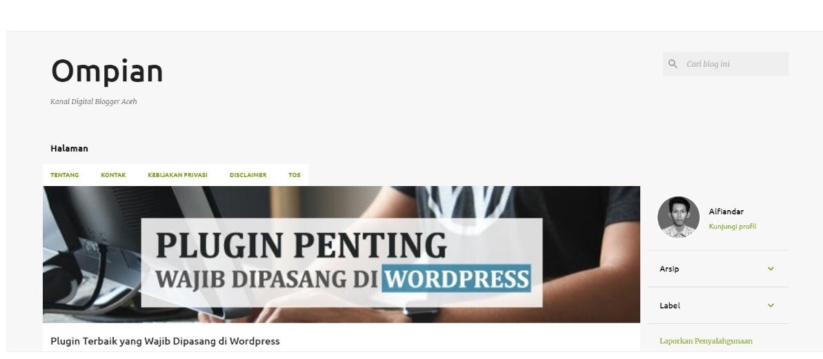 Template Bawaan Blogger Emporio