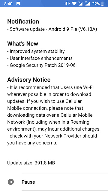 Nokia 5 receiving June 2019 Android Security update