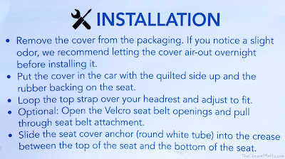 4Knines Car Seat Cover Installation Instructions