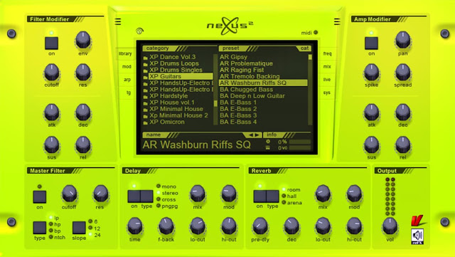 Interface ReFX Nexus v2.2