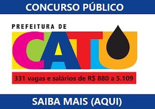 Edital Concurso Prefeitura de Catu 2016 (Inscrições) Apostila