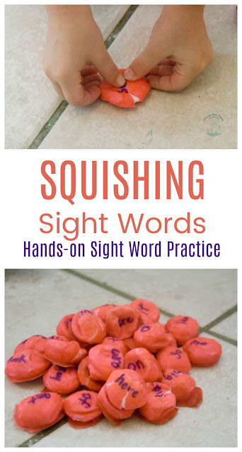 Squishing Sight Words: a fun hands-on learning activity