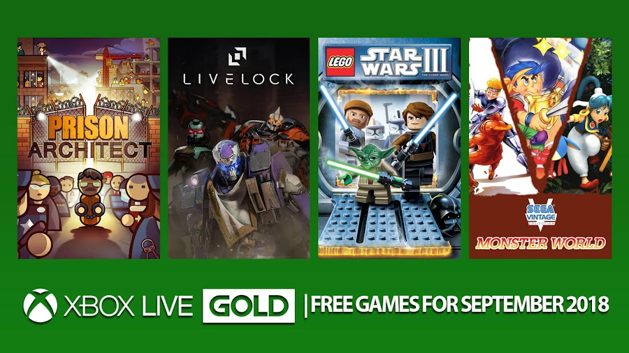 xbox live gold free games september 2018