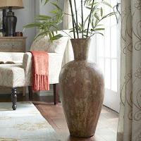 Filler decorating with brown rustic floor vase idea