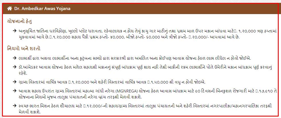 Dr. Ambedkar Awas Yojana Online Application Form 2021 @esamajkalyan.gujarat.gov.in
