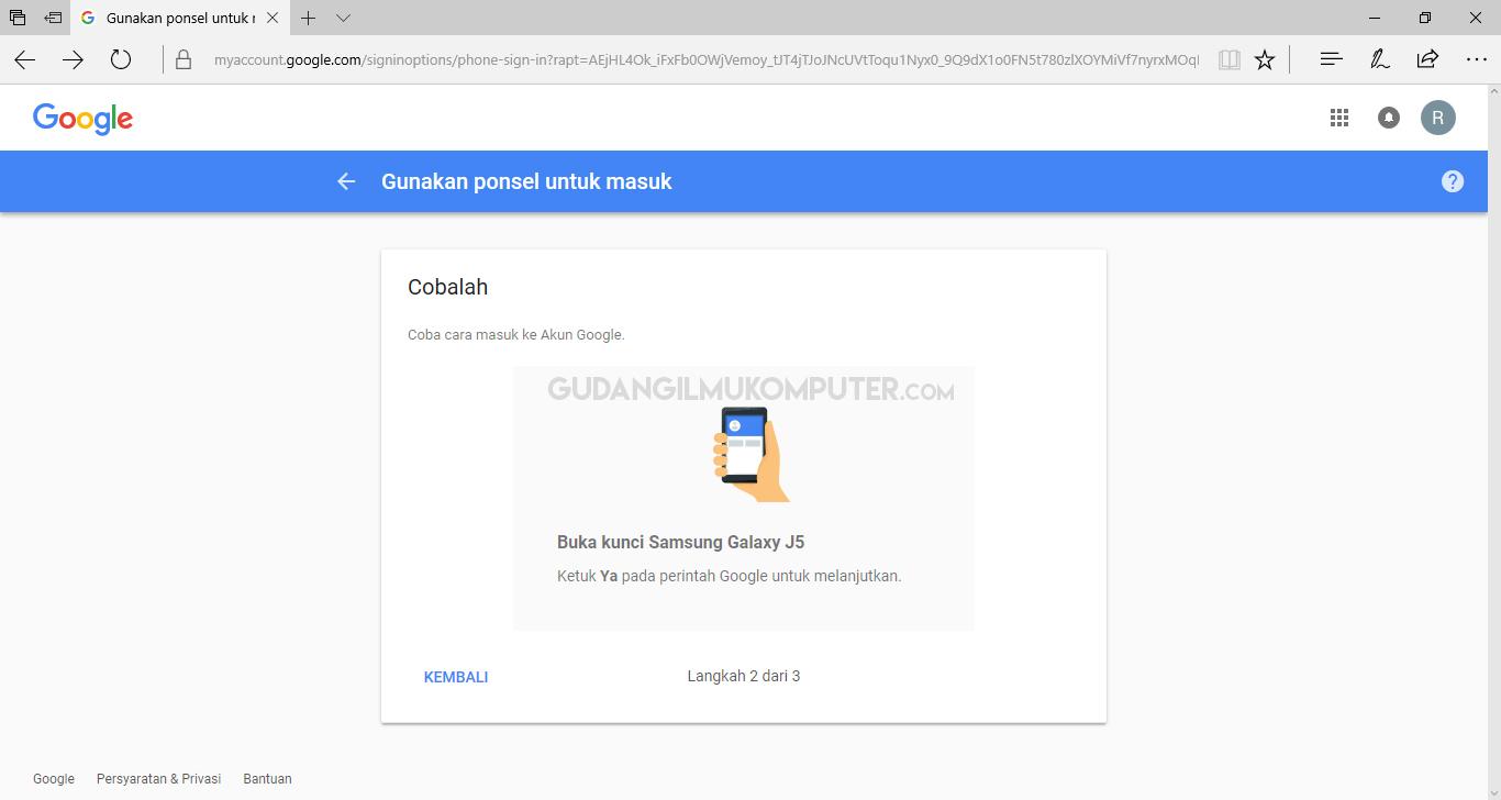 Cara Masuk Gmail Tanpa Password
