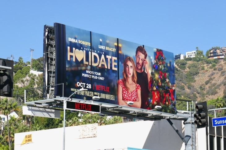 Holidate Netflix film billboard