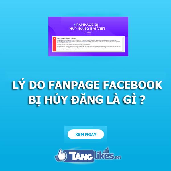fanpage bi huy dang
