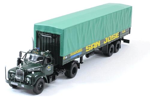 mack b61T 1/43 san jose transportes, coleção caminhões articulados altaya, coleção caminhões articulados planeta deagostini, coleção caminhões articulados 1:43