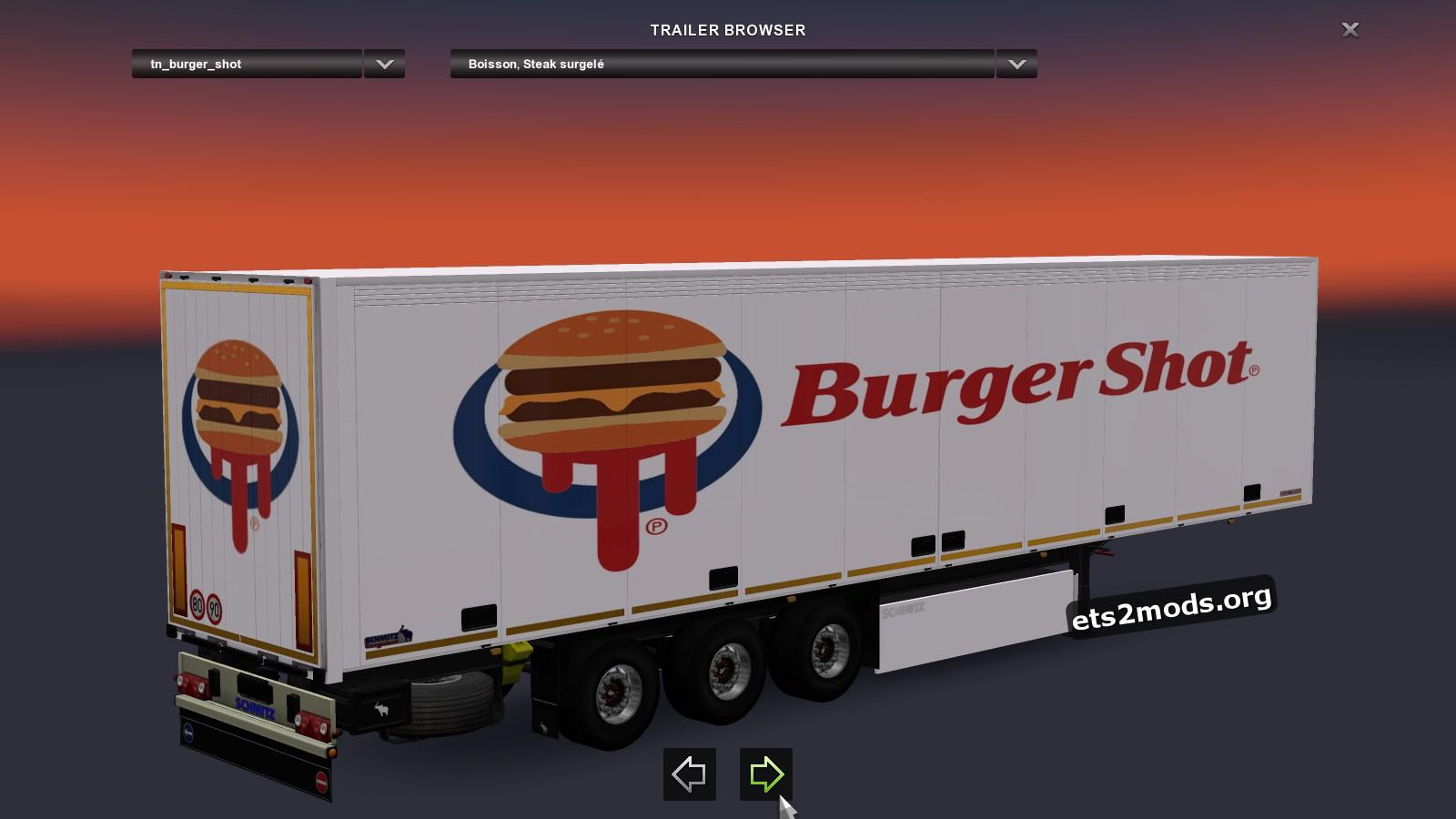 Standalone Schmitz Trailer Burger Shot