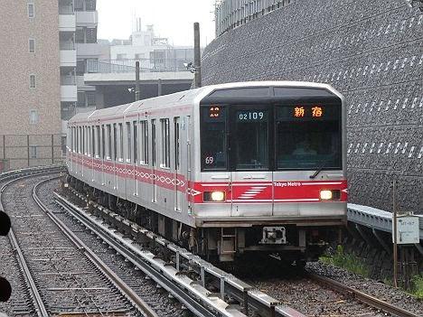 東京メトロ丸ノ内線 新宿行き3 02系LEDサインウェーブ(2019.7激減)
