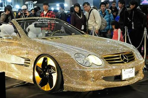 Diamond Encrusted Car: Naija Gist: See Diamond Encrusted Mercedes Benz