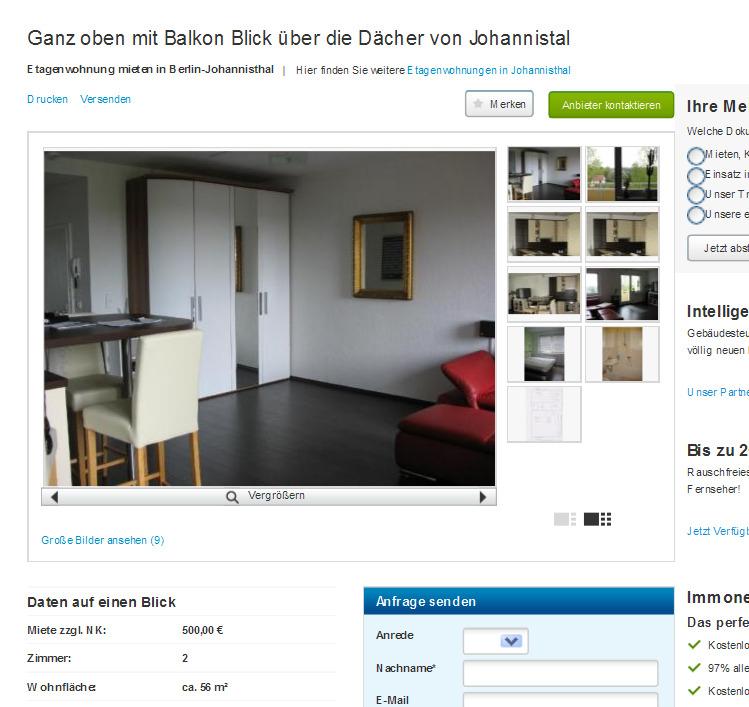 Wohnung Johannisthal