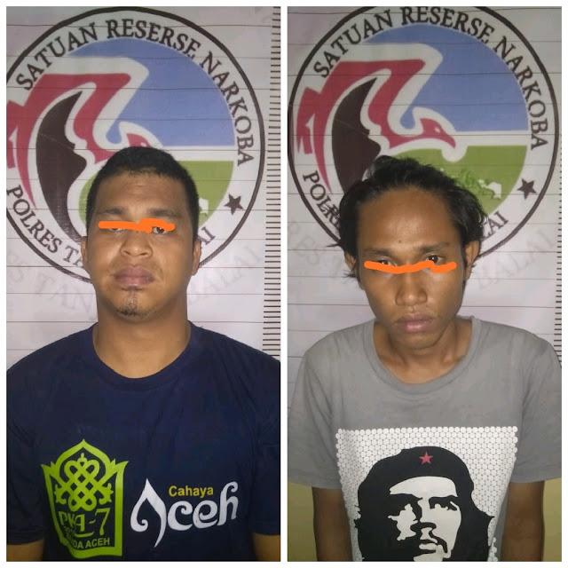 Miliki Sabu, Dua Pria Ini Pasrah Diboyong ke Polres Tanjungbalai