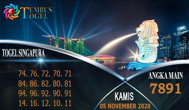 Dunia Nomor Togel Singapore Hari Kamis 05 November 2020