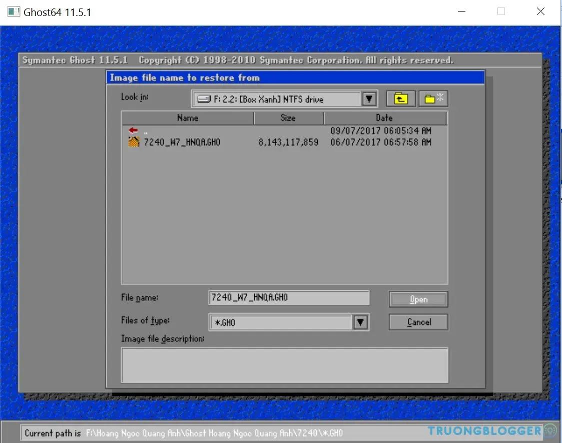 Tạo bản Ghost, sao lưu dữ liệu Windows với Norton Ghost