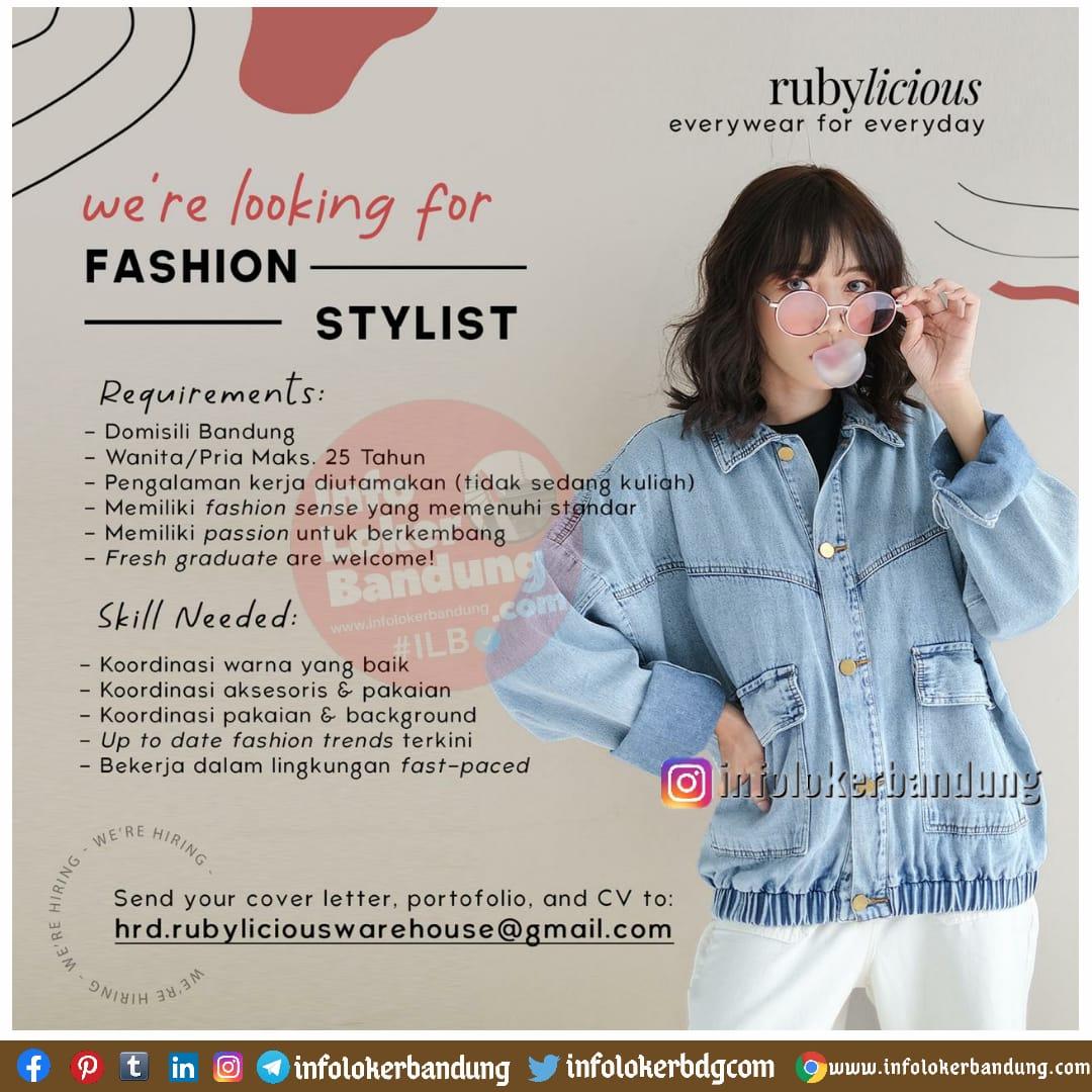 Lowongan Kerja Fashion Stylist Rubylicous Bandung Desmber 2020