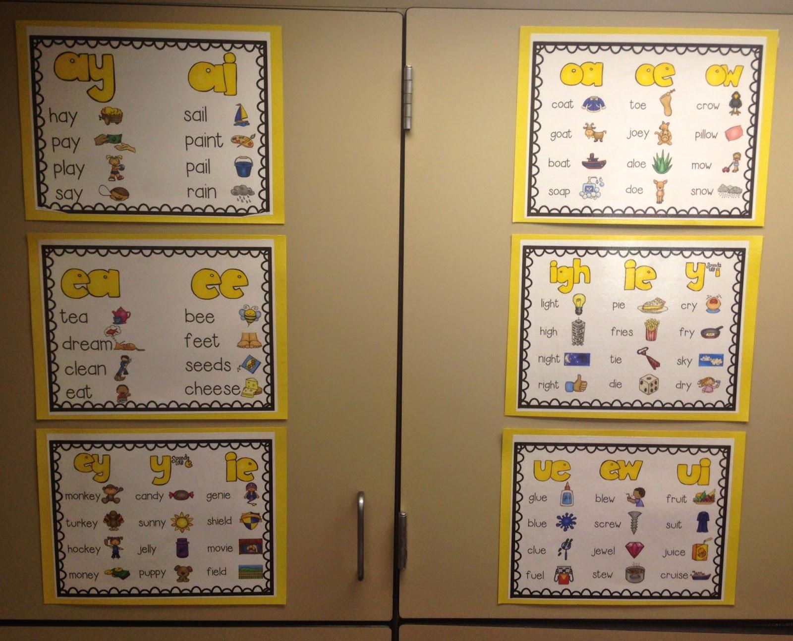 Classroom Confetti Long Vowel Anchor Charts Freebie