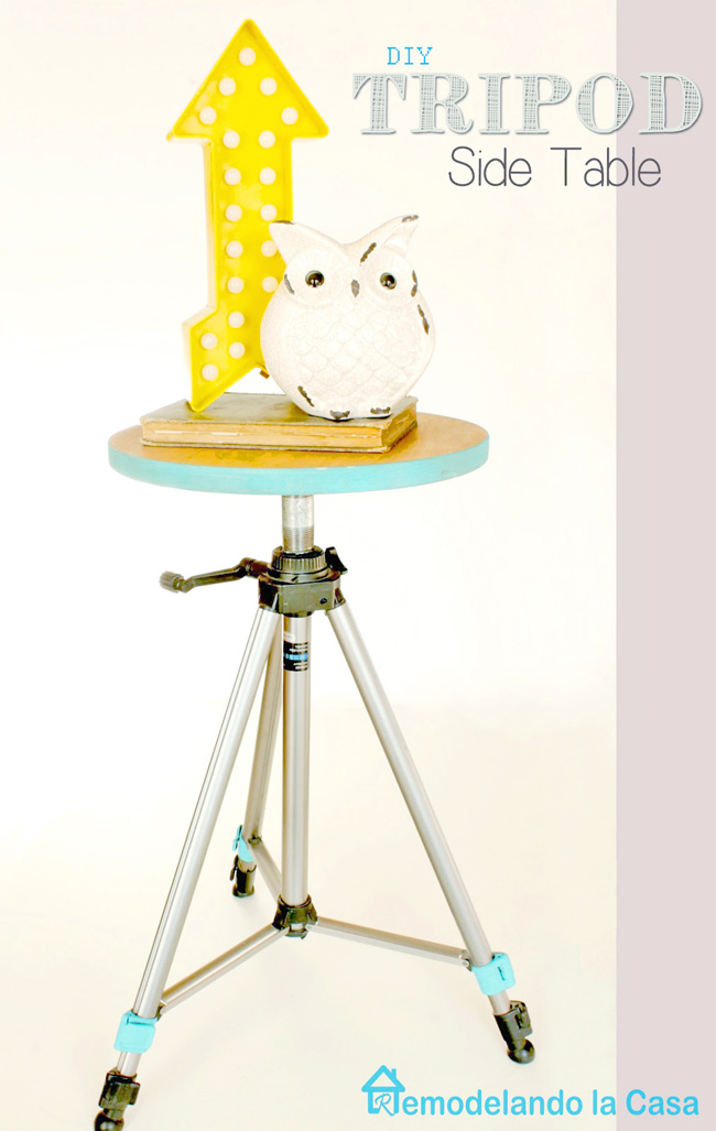 How to turn a tripod into a side table