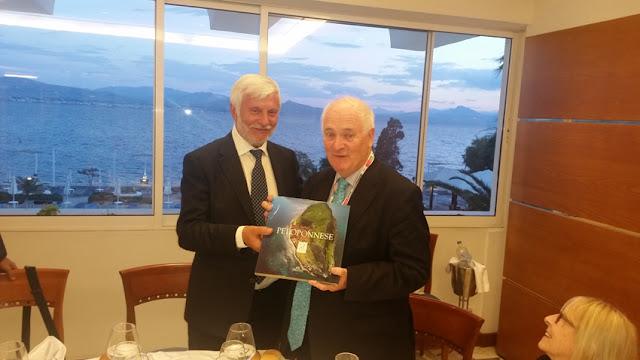 Δείπνο Τατούλη προς τιμήν του Πρωθυπουργού της Ιρλανδίας John Bruton