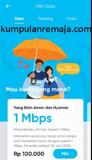 Cara membeli paket internet unlimited di aplikasi By U