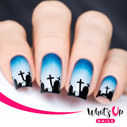 Halloween Nails. Nail Polish Canada Whats Up Nails Graveyard Nail Vinyls