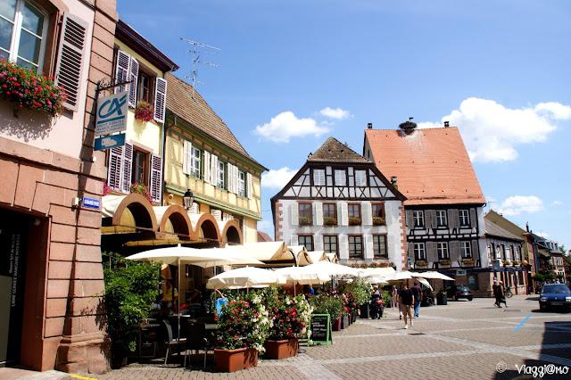 Scorcio del centro storico di Ribeauvillé
