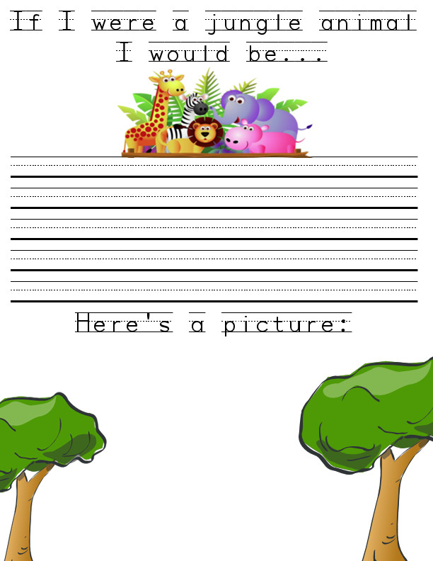 preschool journal topic jungle animal theme  the crafty