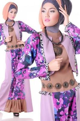 model baju batik muslim remaja modern