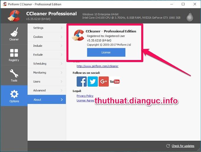 Download CCleaner v5.35.6210 Full Key miễn phí mới nhất