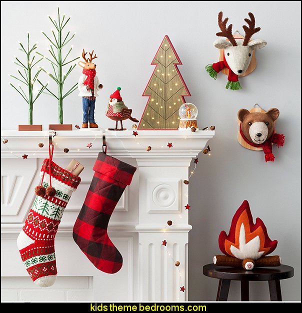 Kids Bedroom Christmas Déco Rustic Christmas decorating ideas - rustic Christmas decorations - Vintage - Rustic - Country style Christmas decorating - rustic Christmas decor - Christmas stockings