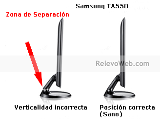 rotura de base de tv monitor samsung