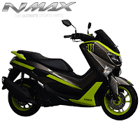 Harga Cash dan Kredit Motor Modifikasi Yamaha NMax Custom Gunmetal Hijau Monster