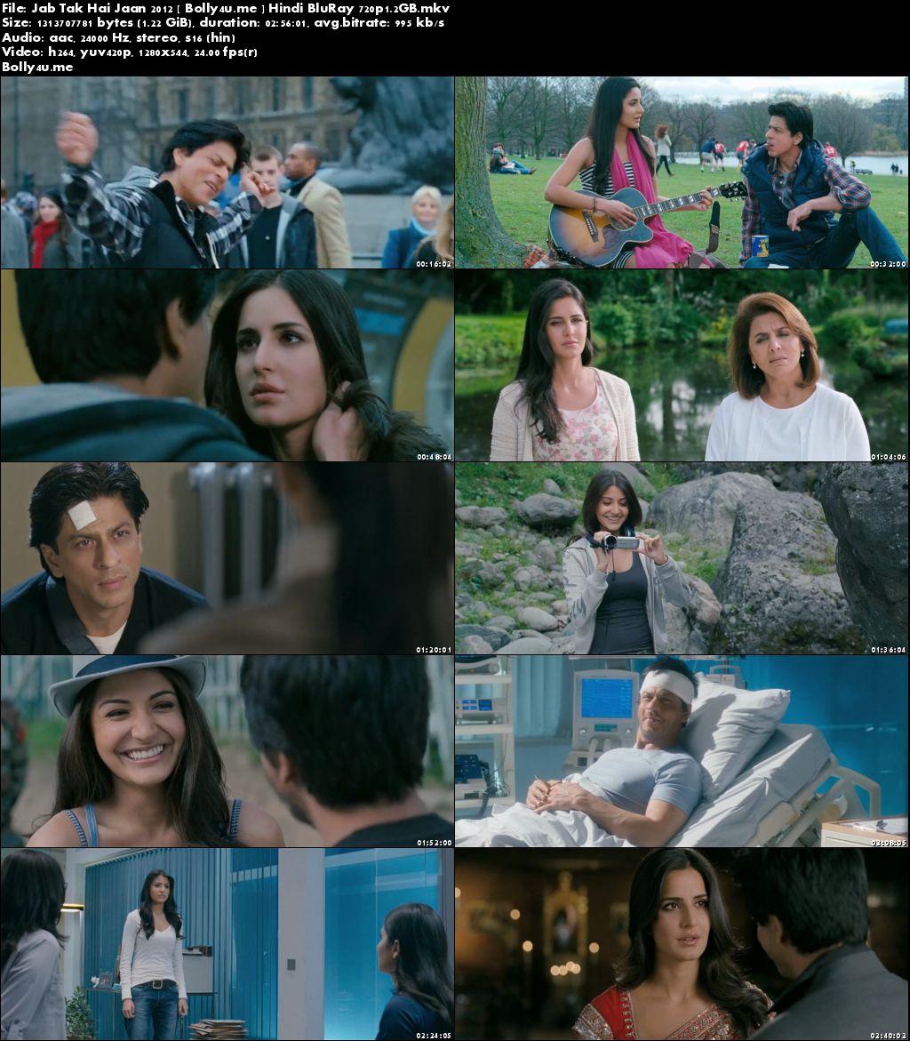 Jab Tak Hai Jaan 2012 BluRay 500MB Hindi Full Movie Download 480p