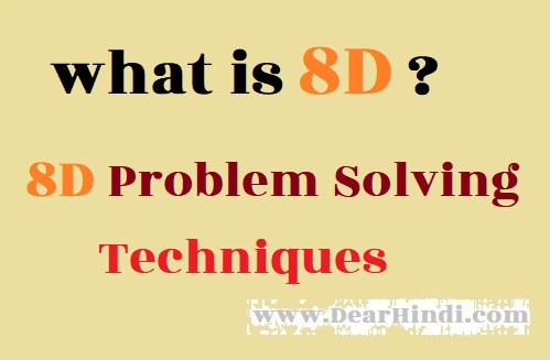 8D problem solving techniques,8d images,8 discipline image